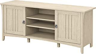 Bush Furniture Salinas 60W TV Stand for 70 Inch TV in Antique White
