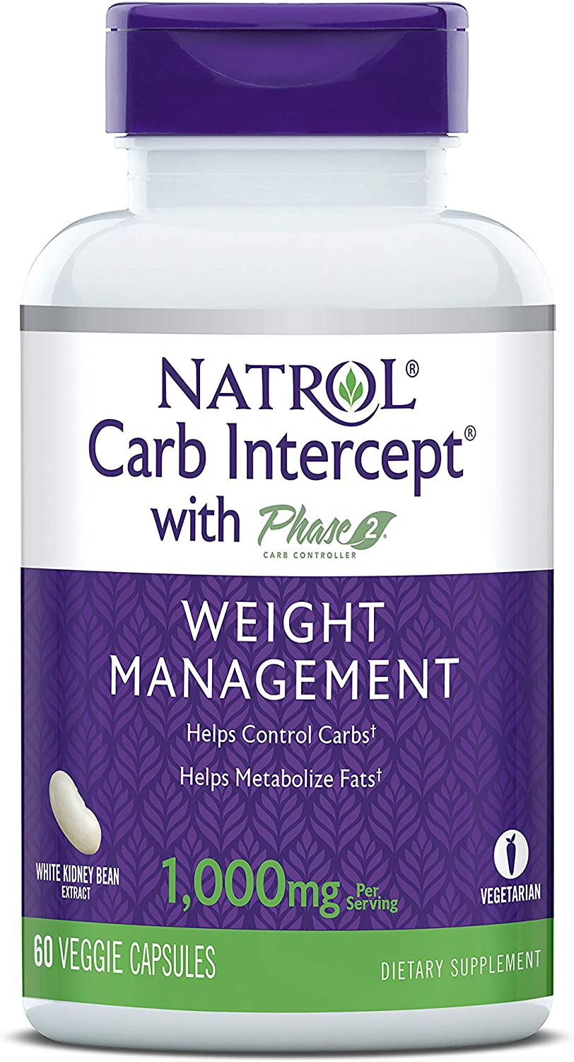 Natrol Carb Intercept Sales for sale with Phase Whi 5 ☆ popular Controller 2 Capsules