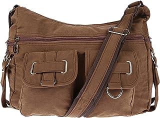 Christian Wippermann Damenhandtasche Schultertasche aus Canvas Braun