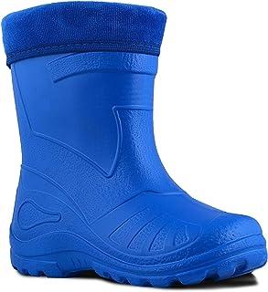 Botas de nieve Wellington, para niños, impermeables, transpirables, para niños, ligeras, color rojo, de EVA