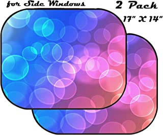 Image of Abstract Background Wallpaper Bright Light Glow Design Decoration Illustration Blur Glowing Color Shiny Block Sunlight MSD Car Sun Shade for Side Window UV Protector for Baby and Pet