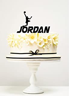 KISKISTONITE Cake Toppers Basketball Player Jordan Custom Birthday Anniversary Favors Party Cake Decorating Supplies