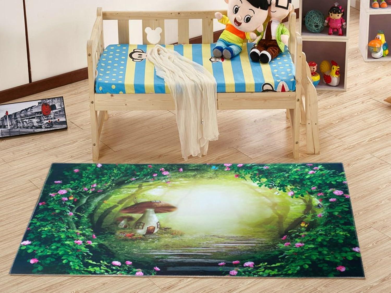 Rug Doormat Floor mat Indoors or Outdoors Non-Skid Slip Water Absorption 3D colorful for Kitchen, Bathroom, Bedroom, Living Room, Door entrances, Patio Entry Ways- 120x180cm(47x71inch)