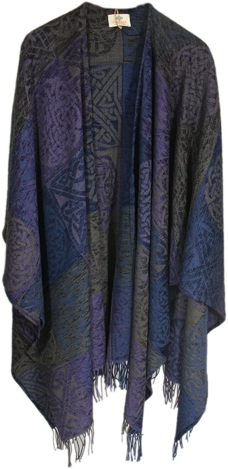 Celtic Ruana Chenille Wool Multiple colors from Scotland