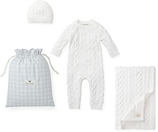 Hope & Henry Layette Cable Knit Sweater Set