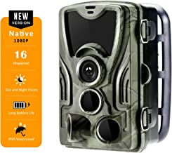 Spoga Hunting Game Trail Camera 1080p FHD Video 16MP Image, 0.3s Trigger time, 120° Detection Angle with 36 pcs IR LEDs Ni...