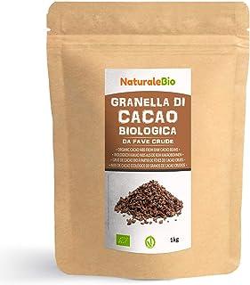 Nibs de Cacao Crudo Ecológico 1 kg. 100% Puntas de Cacao Bio, Natural y Puro. Cultivado en Perú a partir de la planta Theo...