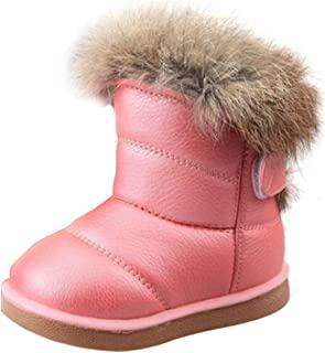 YIBLBOX Baby Girl Boy PU Leather Winter Ankle Snow Boots Prewalker Newborn Infant Booties Warm Crib Shoes