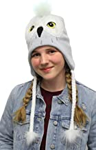Harry Potter Beanie Hedwig Owl Costume Laplander Hat Pom Beanie Grey