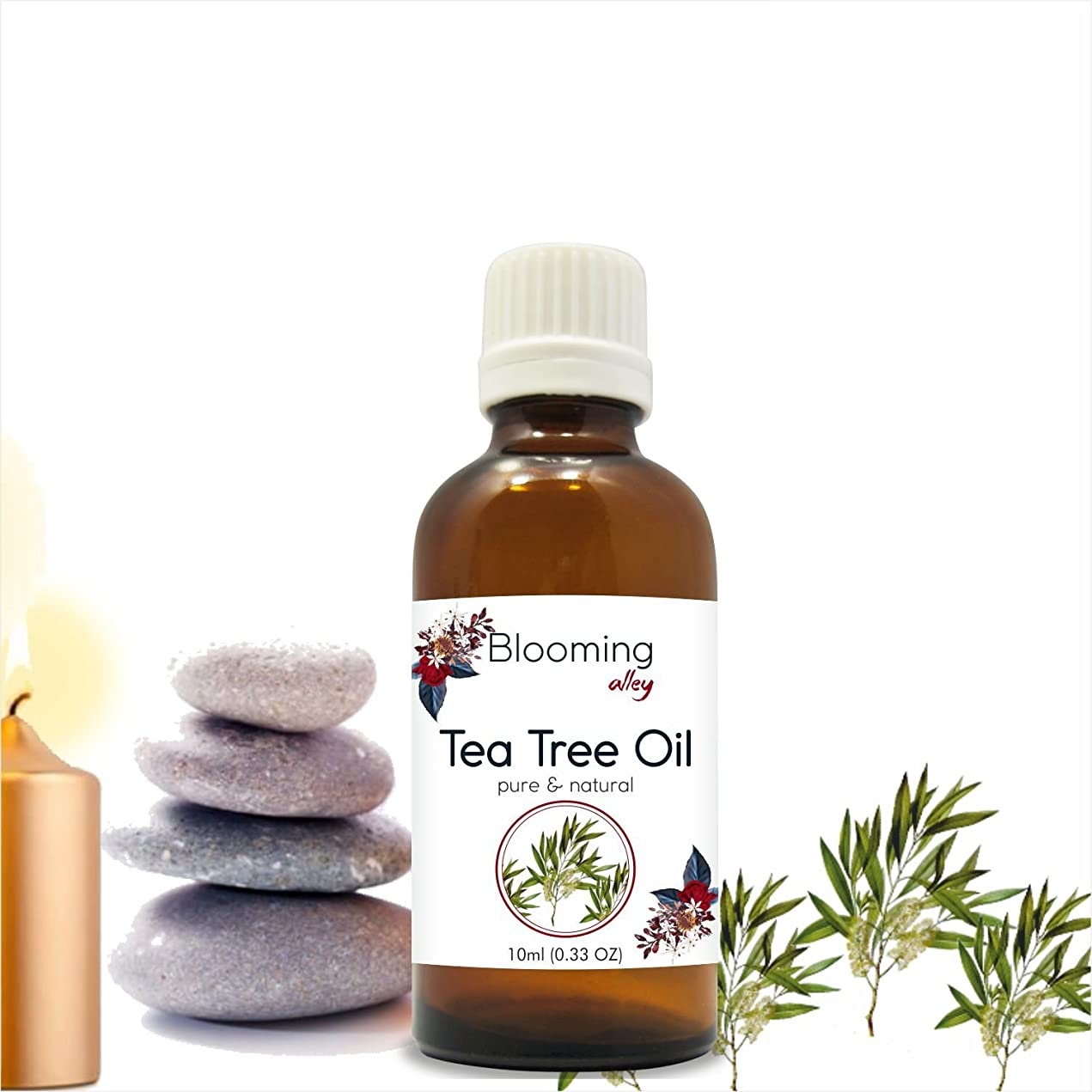 教えてテナント導体Tea Tree Oil (Melaleuca Alternifolia) Essential Oil 10 ml or 0.33 Fl Oz by Blooming Alley
