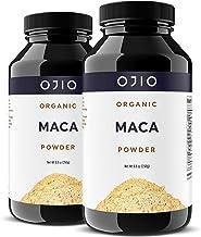 Ojio Certified Organic Maca Root Powder - Premium Grade Peruvian Root Superfood - Gluten Free, Non-GMO, USDA & Vegan - Aid...