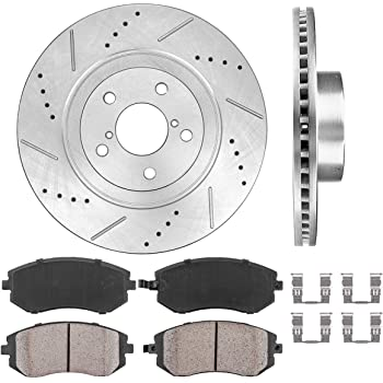 Front Drilled Slotted Brake Rotors Ceramic Pads For Subaru Baja Legacy Outback