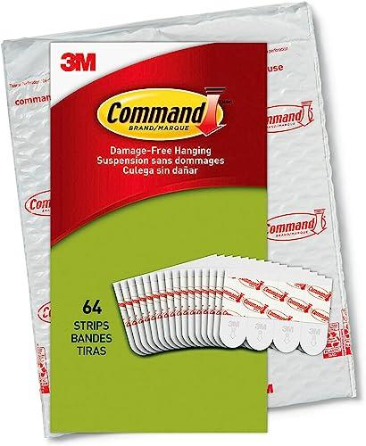 Command Poster Value Pack, 64 Strips, PH024-64NA,White