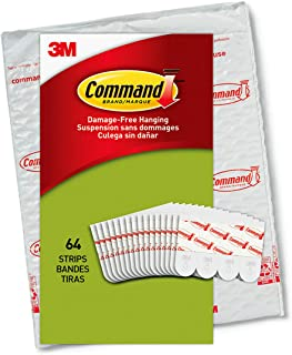 Command Poster Hanging Strips, Small, White, Indoor Use,...