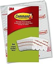 Command Tiras para pendurar pôster, pequeno, branco, uso interno, 64 tiras, decora sem danos