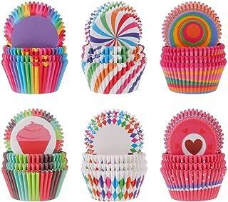 XWSZSZ1 Pirottini di Carta per Muffin Grandi Pirottini di Carta per Muffin Piccoli Baking Bake Muffin Cupcake/Cupcake Muffin Monouso per Matrimoni Compleanni Feste Campeggio DIY 50 Pezzi