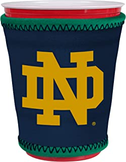 Kolder NCAA Logo Coolie Cup Holder Sleeve Fitting Plastic Cups, Pint Glasses, Coffee Cups, Ice Cream, Etc. - Neoprene and Bottomless (Notre Dame)