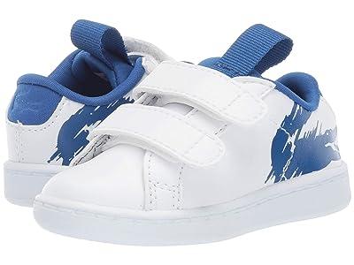 Lacoste Kids Carnaby Evo (Toddler/Little Kid) (White/Blue) Kid