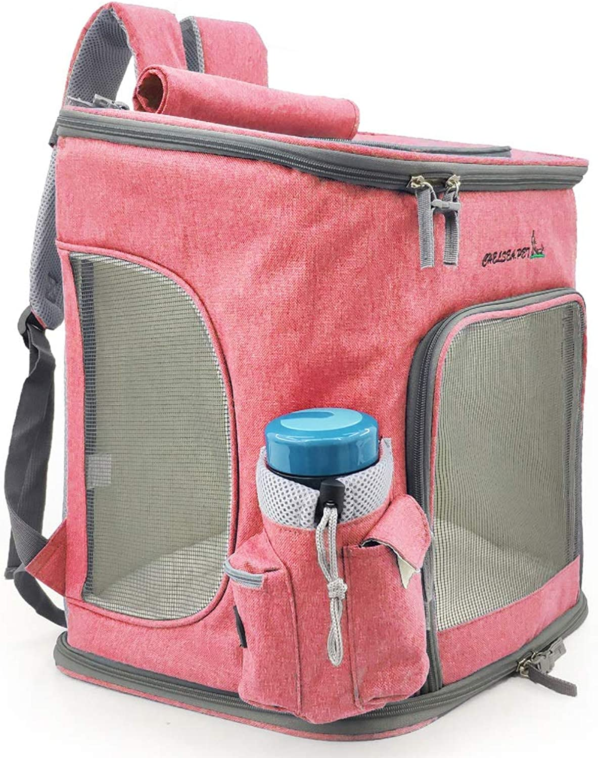 Pet Backpack Pet Out Breathable Carrying Bag Foldable Cat Bag (color   A)