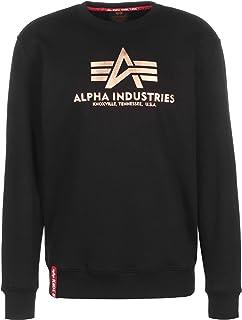 ALPHA INDUSTRIES Men's Basic Sweater Foil Print Sweatshirt