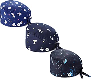 MyRalice Womens Mens Cotton Fabric Cap Working Hat with Button Sweatband Adjustable Tie Back Hats