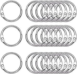 Antner 50-pack Loose Leaf Book Binder Rings 1.2 Inch Nickel Plated Key Rings O-Ring for School Home Office