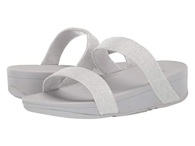 FitFlop Lottie Glitzy Slide (Silver) Women