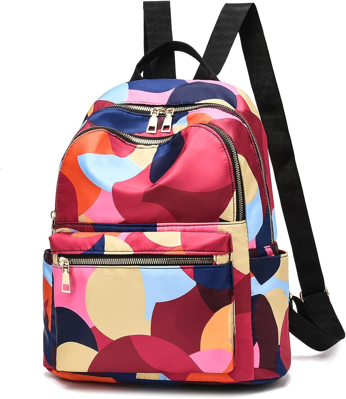 Backpack for Women Nylon Travel Backpack Purse Black Small School Bag