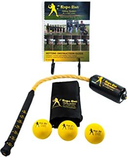 Rope Bat - Professional Hitting System w/ 3 Smushballs - Baseball & Softball Swing Trainer, Training Tool, Batting Aid