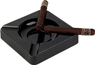 Mantello Resin Patio Cigar Ashtray, Matte Black