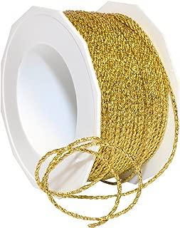 Morex Ribbon 16602/50-634 Loire Wired Polyester/Metallic Ribbon, 1/6