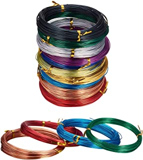 JEWELEADER 10 Colors 650 Feet Aluminum Wire 12 15 18 20 Gauge Bendable Metal Craft Wire Flexible Sculpting Beading Wire for DIY Wrapped Jewelry Manual Arts Making Rainbow Projects