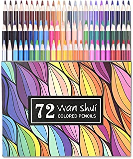 72 Colored Pencils - Professional Grade 72 Vibrant Color Pre-sharpened Colored Pencil Set for Drawing, Sketching, Adult Coloring Book