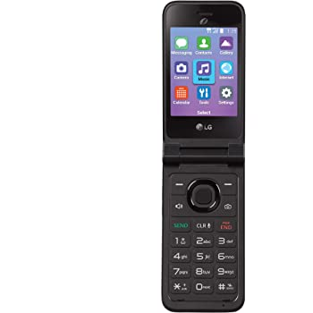 TracFone Carrier-Locked LG Classic Flip 4G LTE Prepaid Flip Phone- Black - 4GB - Sim Card Included – CDMA