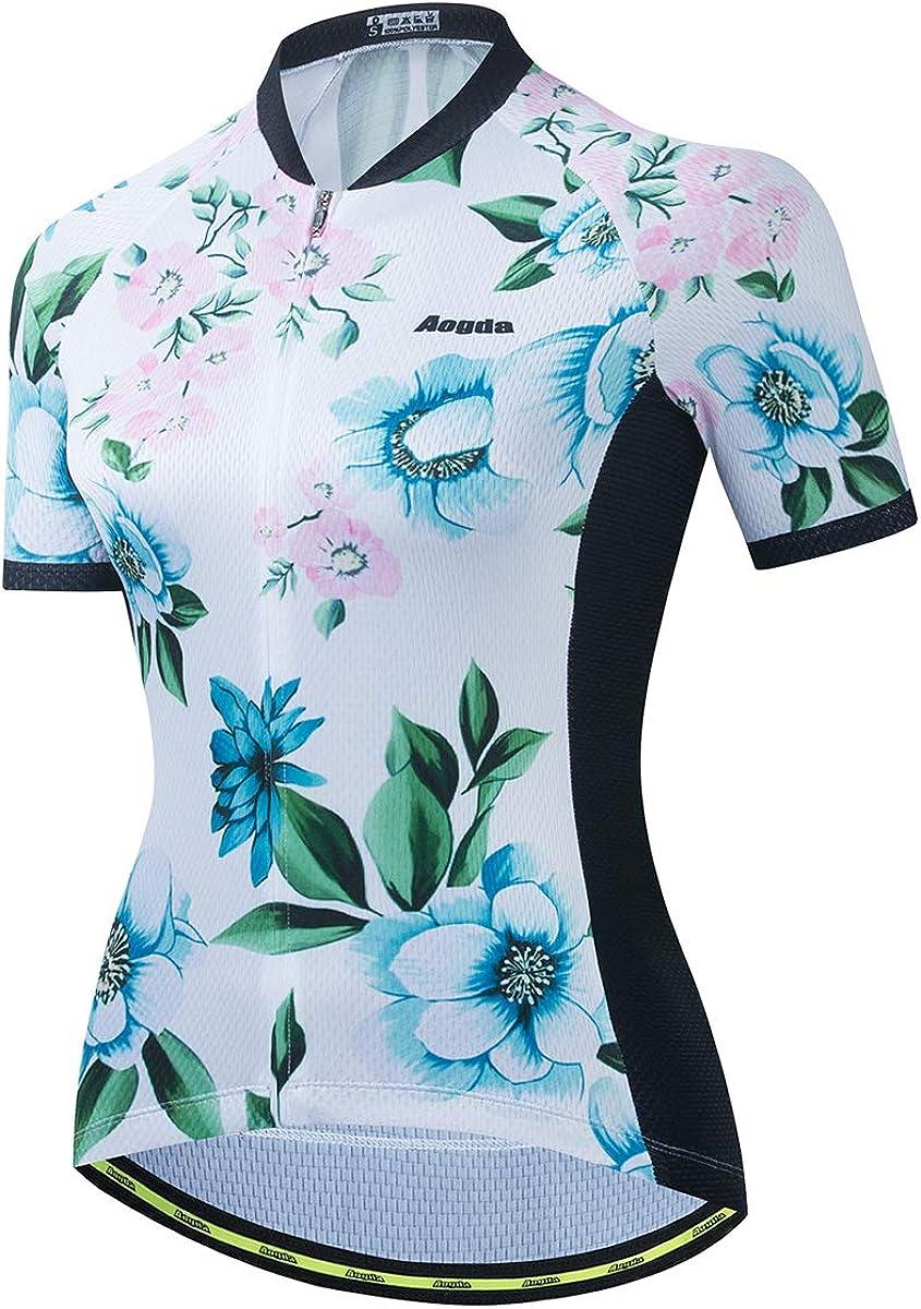 25% OFF Aogda Cycling Shirts Women Bike Top Short Jerseys Biking Team discount Sl