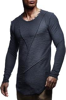 Leif Nelson Heren pullover ronde hals zwarte mannen lange mouwen dunne trui sweatshirt lange mouwen crew neck jongens hood...