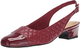 Trojoters mujer& 39;s DEA Ballet Flat, Dark rojo Quilt, 11.0 S US