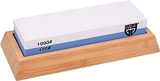 GRÄWE–Piedra de afilar (granulado 1000/400Twinstar Grano con Soporte Hecho de bambú