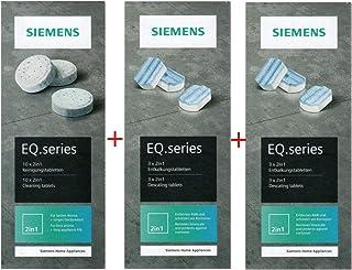 Siemens 10 tablettes de nettoyage TZ80001N + 6 tablettes de détartrage TZ80002N pour EQ