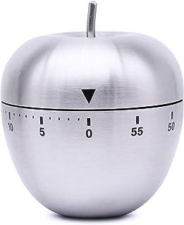 a forma di secchio 60 minuti Timer da cucina Timer di carica meccanica in acciaio inossidabile Promemoria tempo timer accensione Promemoria conto alla rovescia Promemoria tempo
