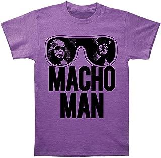 World Wrestling Entertainment Old School Macho Man Adult Purple T-Shirt (Adult Large)