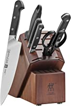 ZWILLING J.A. Henckels 38433-108 ZWILLING Pro 7-pc Knife Block Set, Black/Stainless Steel