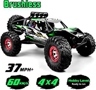 Gizmovine RTR Hobby RC Car 1:12 Scale 4WD Remote Control Truck 60+KM/H High Speed, Brushless 2.4 GHz Waterproof Radio Controlled Cars with 1 Rechargeable Batteries, 4x4 Off-Road RC Monster Trucks