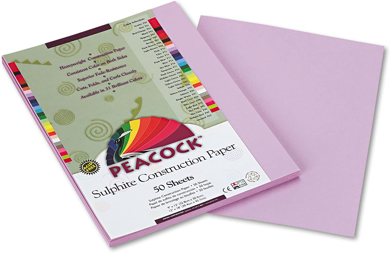 Peacock Sulphite Construction Paper, 76 lbs., lbs., lbs., 9 x 12, Lilac, 50 Sheets Pack B0017D7X0E  | Das hochwertigste Material  3b2a9c