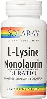 Solaray L-Lysine Monolaurin 1:1 1:1 VCapsules, 60 Count