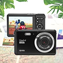 3 inch TFT LCD Rechargeable HD Mini Digital Camera, Vmotal Video Camera Digital Students Cameras 12 MP/HD Compact Camera for Kids/Beginners/Seniors/Elderly (Not Included SD Card)