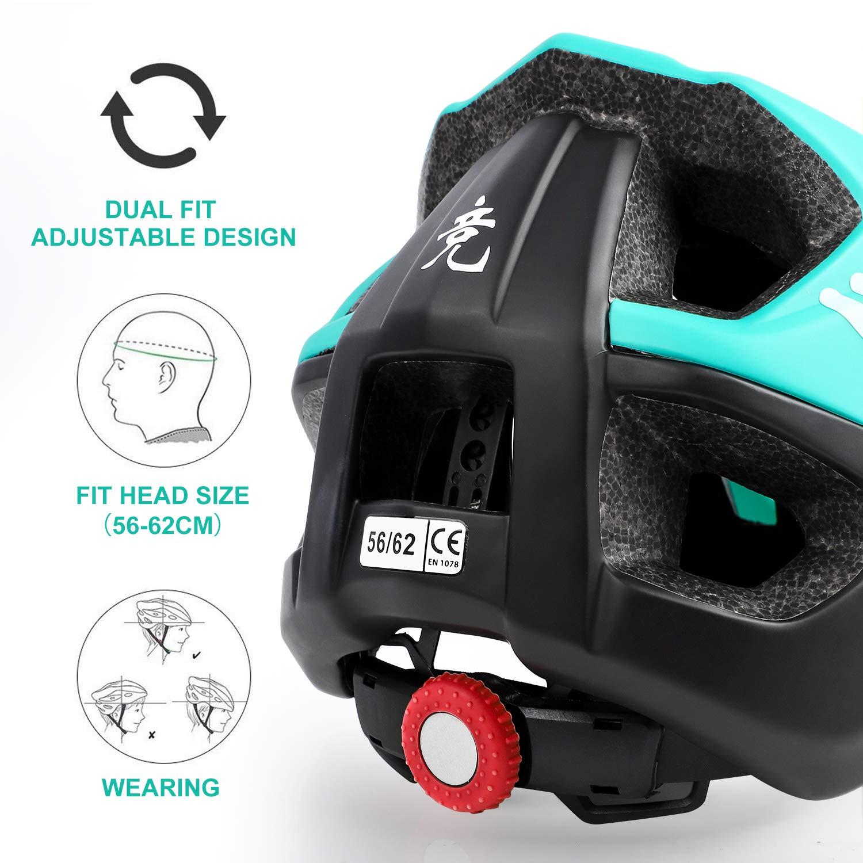 Details about  /Lightweight Bike Helmet with Soft Removable Lining Pad /& Detachable Visor M3I6