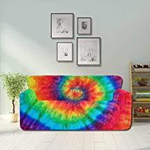 YUMOING Colorful Tie Dye Printed Covers for Sofa Modern Sofa Cushions Fitted Furniture Protector 2&3 Seat Sofas