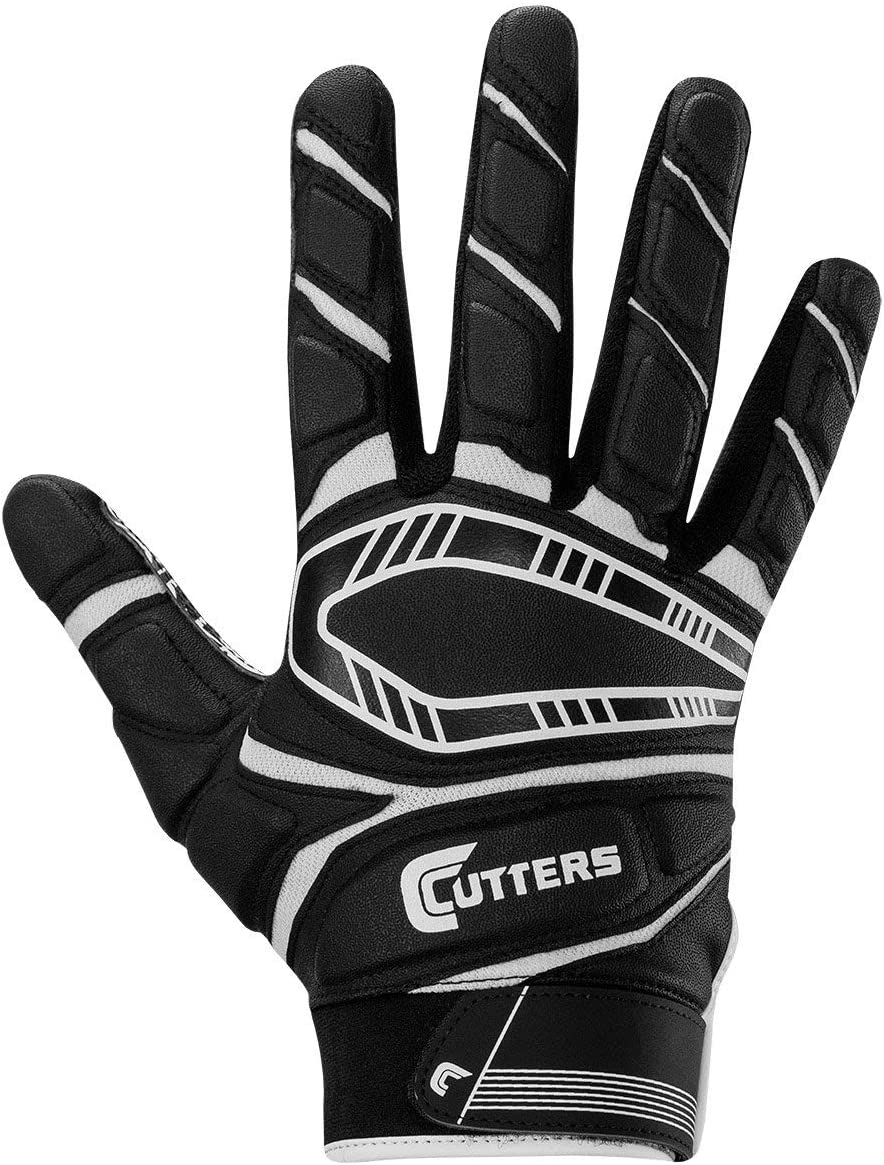 1 Pair Grip Football Glove Cutters Game Day Padded Football Glove for Lineman and All-Purpose Player Youth /& Adult Sizes.