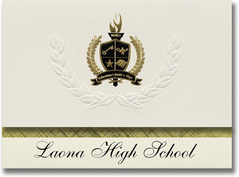 Signature Ankündigungen Laona High School (Laona, Wi) Graduation Ankündigungen, Presidential Stil, Elite Paket 25 Stück mit Gold & Schwarz Metallic Folie Dichtung B078WFDR89    | Niedrige Kosten